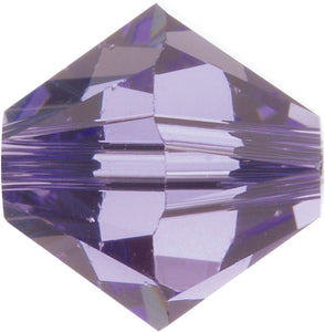 Swarovski Beads 5328 Bicone, 4MM, Tanzanite - Pack of 25