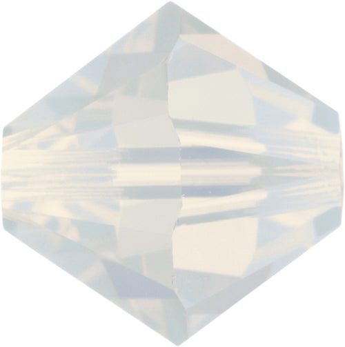 Swarovski Beads 5328 Bicone, 4MM, White Opal - Pack of 25