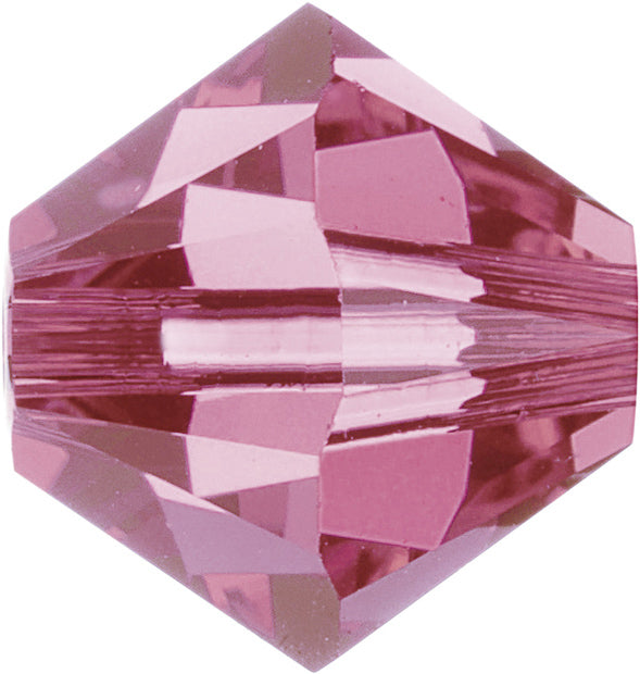 Swarovski Beads 5328 Bicone, 5MM, Rose - Pack of 25