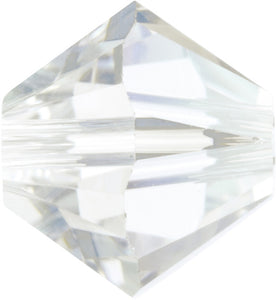 Swarovski Beads 5328 Bicone, 6MM, Crystal Moonlight - Pack of 20