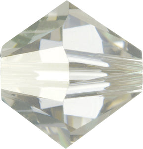 Swarovski Beads 5328 Bicone, 6MM, Crystal Silver Shade - Pack of 20