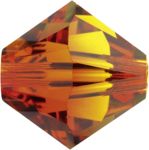 Swarovski Beads 5328 Bicone, 6MM, Fireopal - Pack of 20