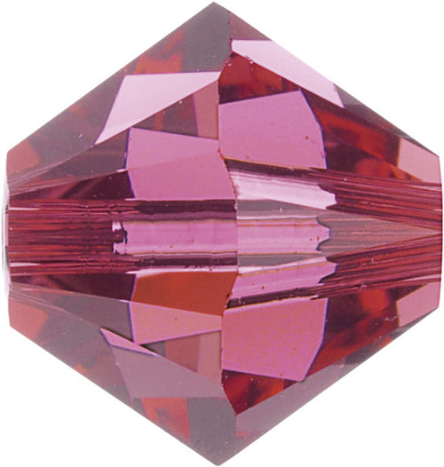 Swarovski Beads 5328 Bicone, 6MM, Indian Pink - Pack of 20
