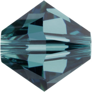 Swarovski Beads 5328 Bicone, 6MM, Indicolite - Pack of 20