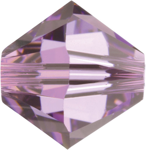Swarovski Beads 5328 Bicone, 6MM, Light Amethyst - Pack of 20