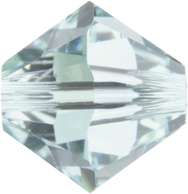 Swarovski Beads 5328 Bicone, 6MM, Light Azore - Pack of 20