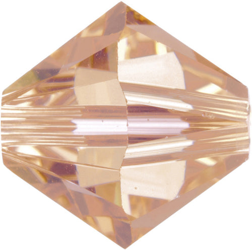 Swarovski Beads 5328 Bicone, 6MM, Light Peach - Pack of 20