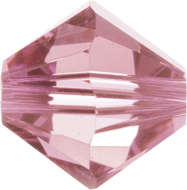 Swarovski Beads 5328 Bicone, 6MM, Light Rose - Pack of 20