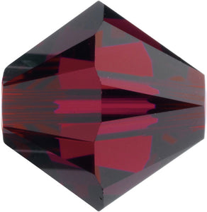 Swarovski Beads 5328 Bicone, 6MM, Ruby - Pack of 20