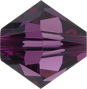 Swarovski Beads 5328 Bicone, 8MM, Amethyst - Pack of 10