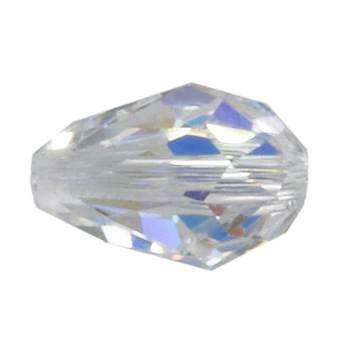 Swarovski Beads 5500 Teardrop, 9MM X 6MM, Crystal AB - Pack of 4