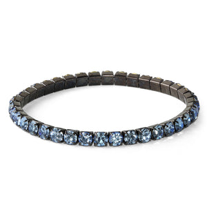 Tanzanite Glass Elastic Tennis Bracelet