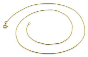 14K Gold Plated Sterling Silver Snake Chain 0.7MM