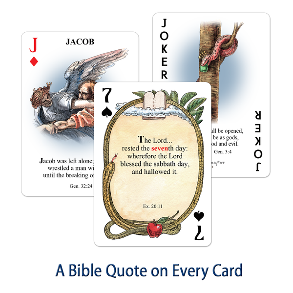 "Bible / Old Testament Playing Cards - ""Serpent"" Version"