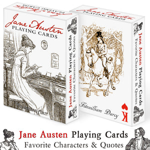 "Jane Austen Playing Cards ""Copper Back"""