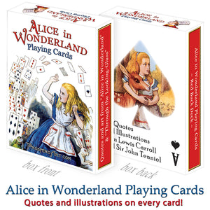 "Alice In Wonderland Playing Cards ""Red Back"""