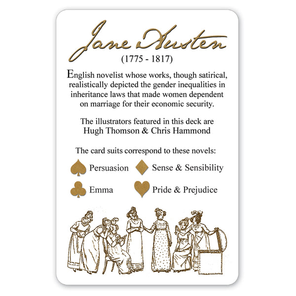"Jane Austen Playing Cards ""Gold Back"""