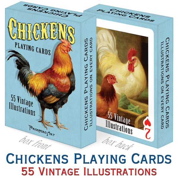 Chickens Playing Cards