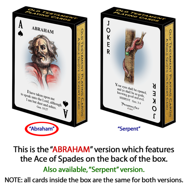 "Bible / Old Testament Playing Cards - ""Abraham"" Version"