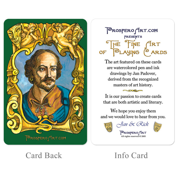 "Shakespeare ""Double Deck"" Playing Card Set"
