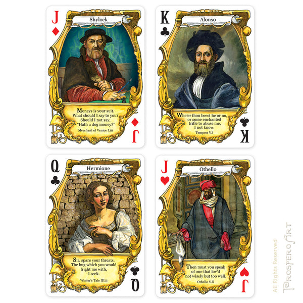 "Shakespeare ""Quotes"" Playing Cards"