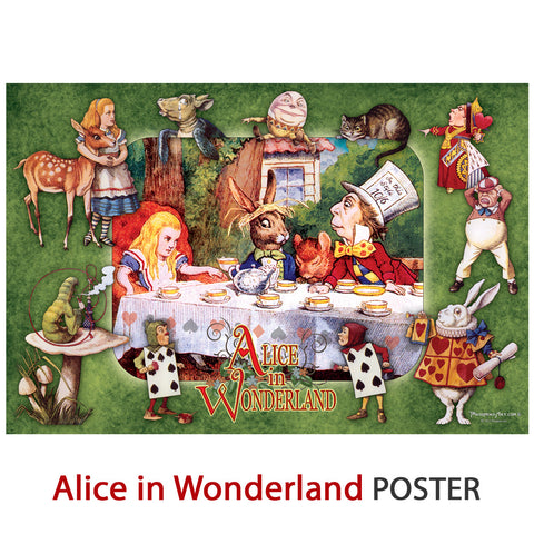 "Alice in Wonderland Poster - 12"" X 18"" - 100 lb stock"
