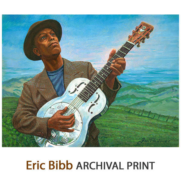 Eric Bibb & Booker's Guitar - Archival Print on Canvas