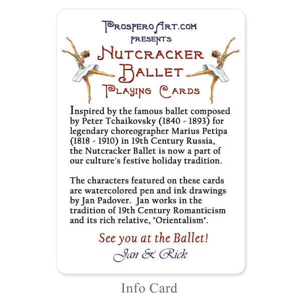 Nutcracker Ballet Playing Cards
