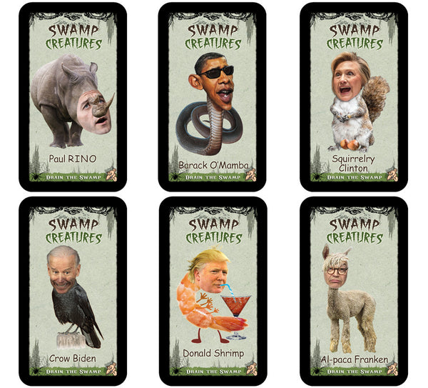 Swamp Creatures Trading Cards