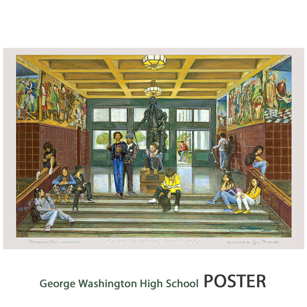 "George Washington High School Poster - 12"" X 18"" - 100 lb stock"