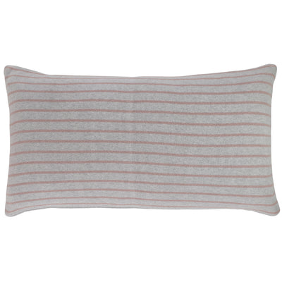 Stripe reversible pillow - Grey/Fawn