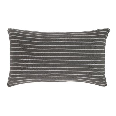 Stripe reversible pillow - Smoke Pearl/Grey