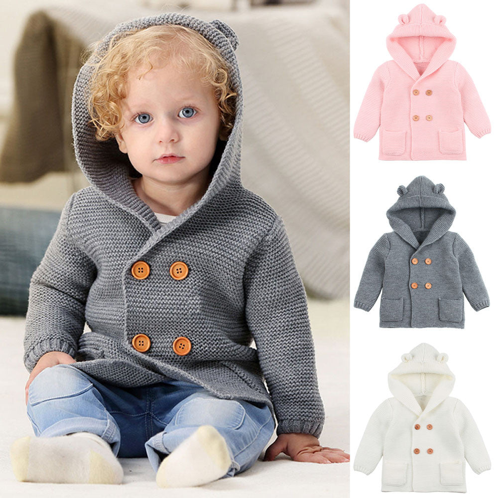 03cc9399a MUQGEW Toddler Baby Boys Girl Clothing Solid Color Ears