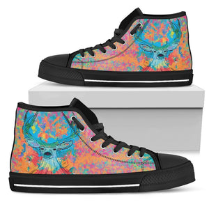 Canny Creations High Tops Mens High Top - Black - Cosmic Deer | Dark / US5 (EU38) Cosmic Deer