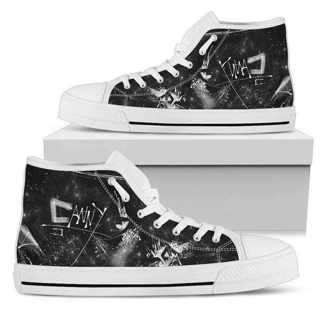 Canny Creations High Tops Mens High Top - White - Paint and Destroy | Light / US5 (EU38) Paint and Destroy