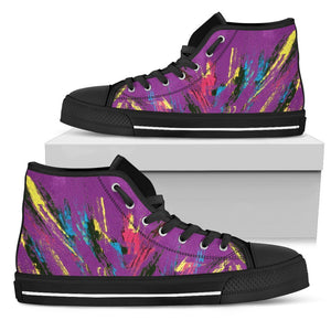 Canny Creations High Tops Womens High Top - Black - Splashed up | Purple / US5.5 (EU36) Splashed up