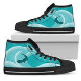 Canny Creations High Tops Womens High Top - Black - Surfs Up! | Dark / US5.5 (EU36) Surfs Up!