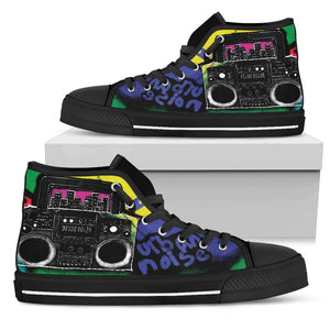 Canny Creations High Tops Womens High Top - Black - Urban Noise | Dark / US5.5 (EU36) Urban Noise