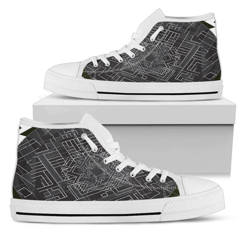 Canny Creations High Tops Womens High Top - White - Chip Wires | Light / US5.5 (EU36) Chip Wires