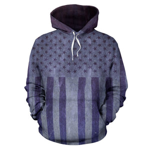 Canny Creations Hoodies American Flag Vintage