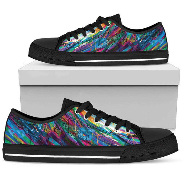 Canny Creations low tops Womens Low Top - Black - Scratches | Dark / US5.5 (EU36) Scratches