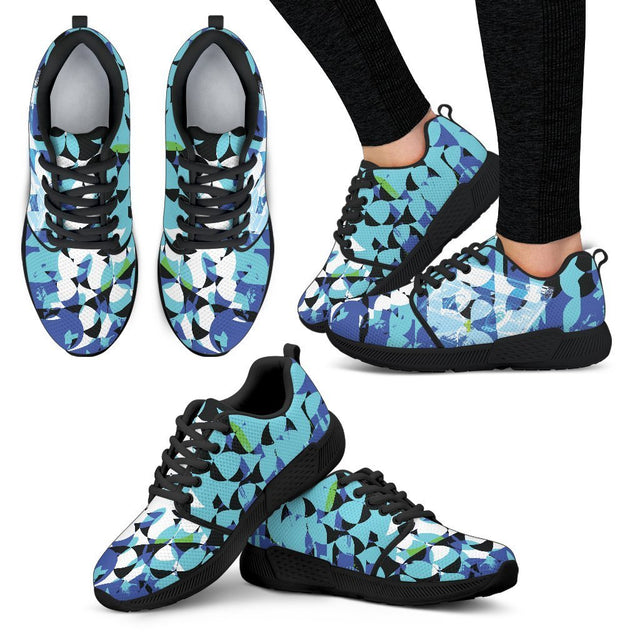 Canny Creations Shoes Women's Athletic Sneakers - Black - Mix Tapes Blue | Dark / US5 (EU35) Mix Tapes