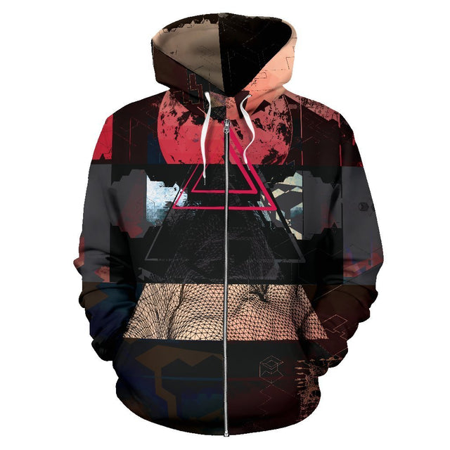 Canny Creations Zip Up Hoodie Men's Zip-Up Hoodie - Alien Life / S Alien Life