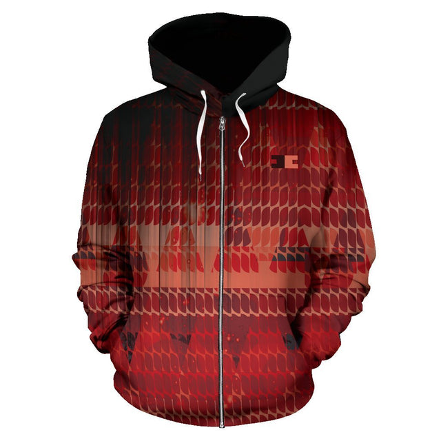 Canny Creations Zip Up Hoodie Men's Zip-Up Hoodie - Arizona Glow / S Arizona Glow | Zip Up Hoodie