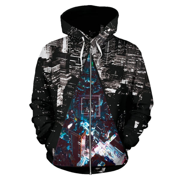Canny Creations Zip Up Hoodie Men's Zip-Up Hoodie - Night Times | Zip-Up Hoodie / S Night Times | Zip-Up Hoodie