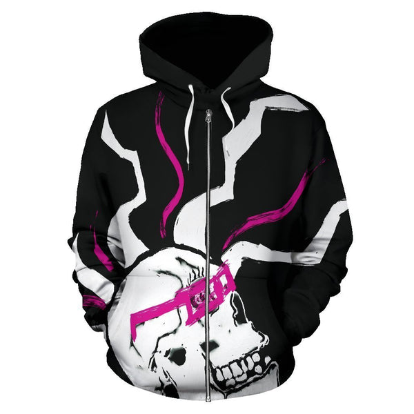 Canny Creations Zip Up Hoodie Skulled | Zip-Up Hoodie