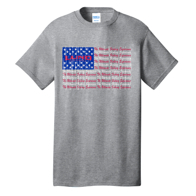Ladies USA Flag Tee