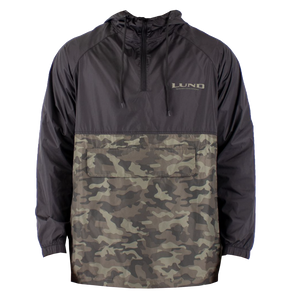 Mens Camo 1/4 Zip Windbreaker Pullover