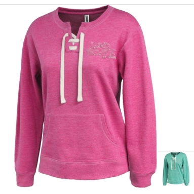 Ladies Lightweight Lace Up Sweatshirt