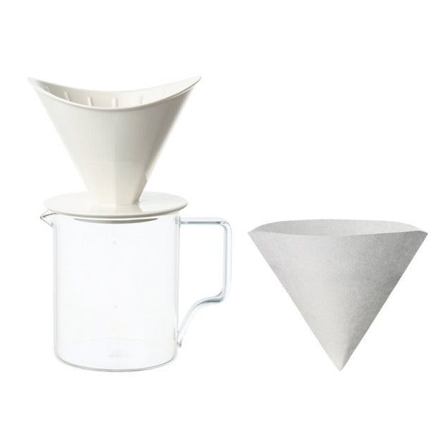 Kinto Oct Filter Brewer - Jug Set - White